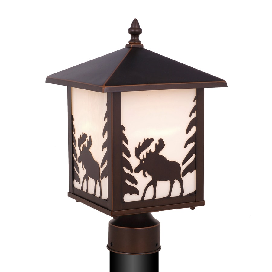 Cascadia Lighting Yellowstone 14-in H Burnished Bronze Post Light