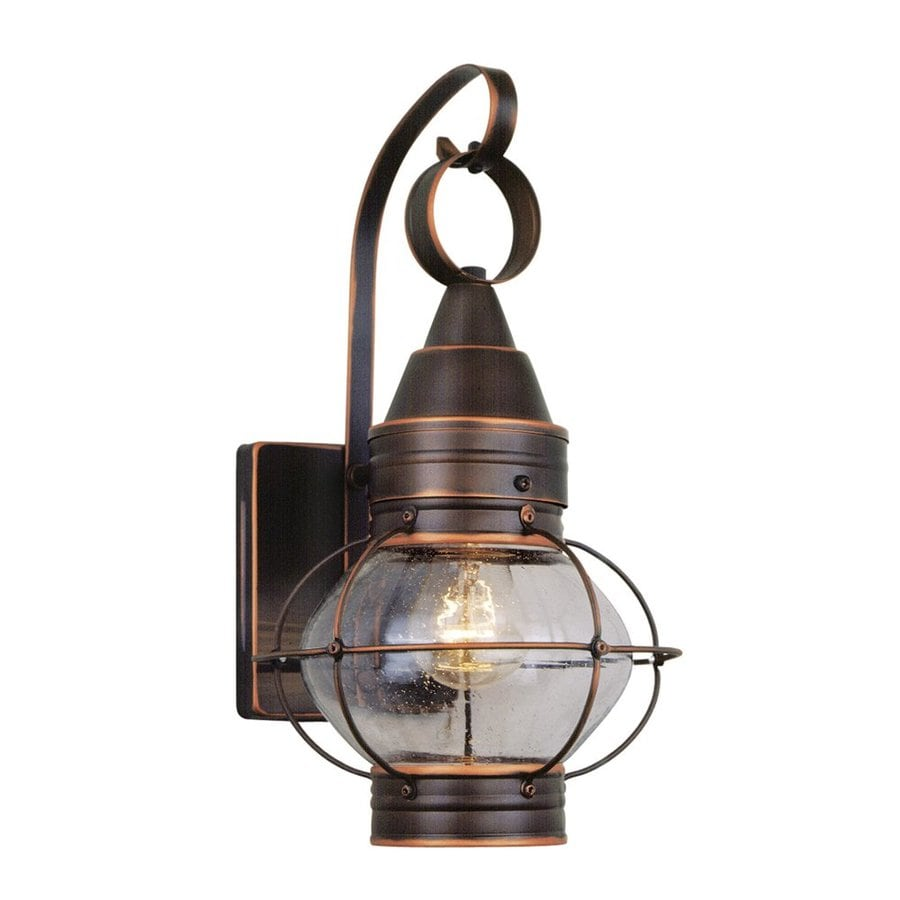 Cascadia Lighting Chatham Nautical 14-in H Burnished Bronze Outdoor Wall Light