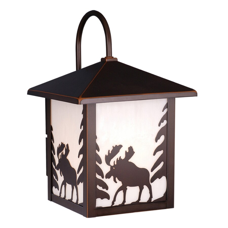 Cascadia Lighting Yellowstone 12.5-in H Burnished Bronze Outdoor Wall Light