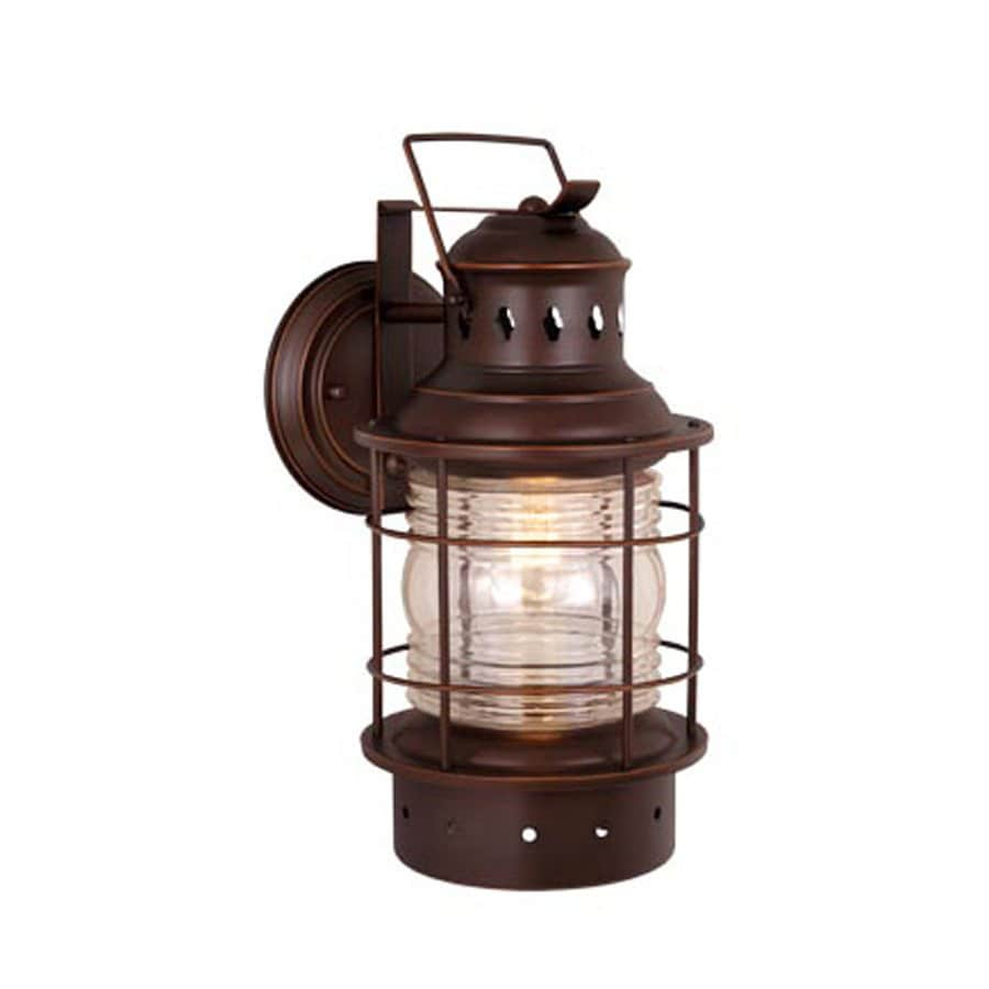 Wall Sconces Nautical : Shop Cascadia Lighting Nautical 12-in H Burnished Bronze Outdoor Wall Light at Lowes.com