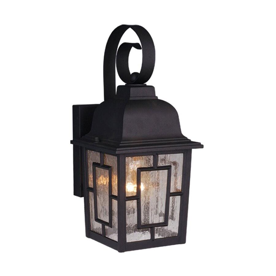 Cascadia Lighting Vista 13-in H Textured Black Outdoor Wall Light