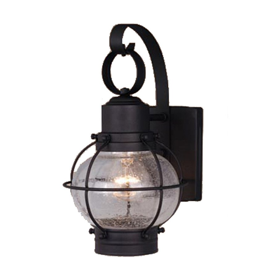 Wall Sconces Nautical: Shop Cascadia Lighting Nautical 12-in H Textured Black