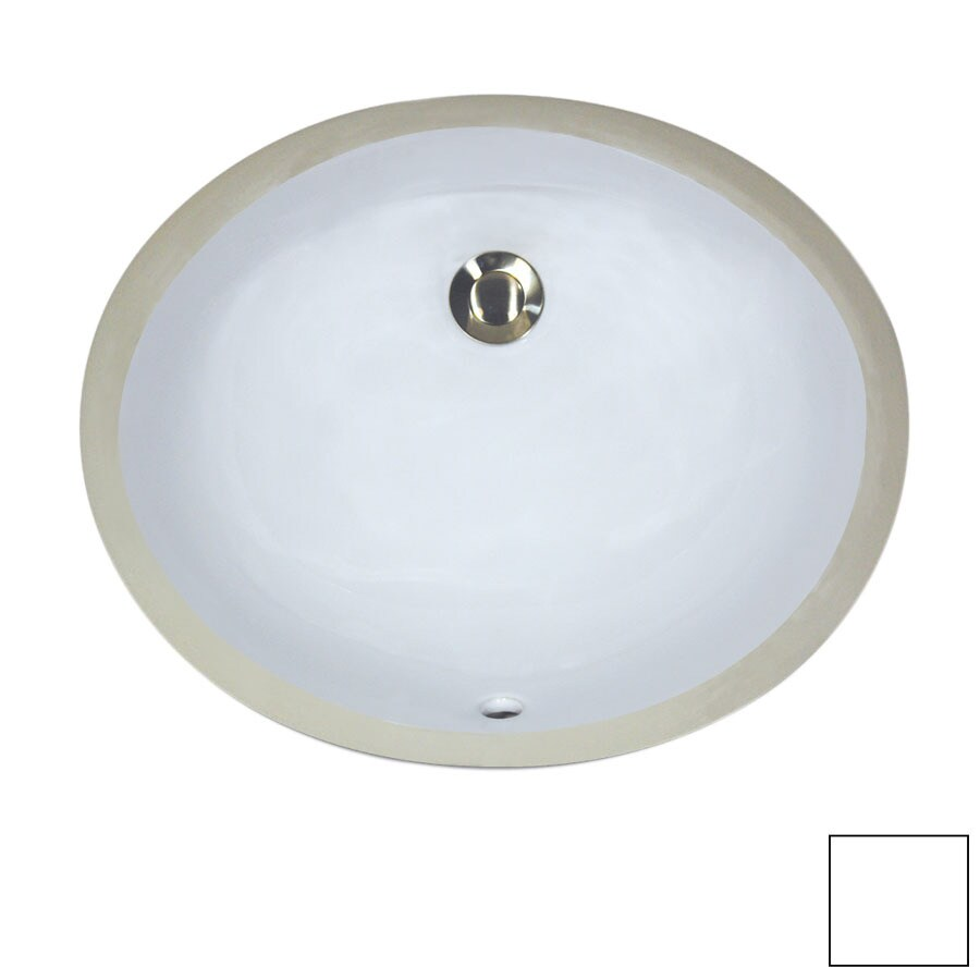 Bathroom Sink White : Shop Nantucket White Undermount Oval Bathroom Sink with Overflow at ...