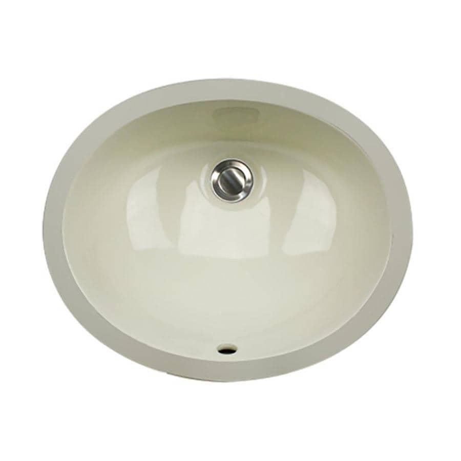 Nantucket Bisque Undermount Oval Bathroom Sink with Overflow