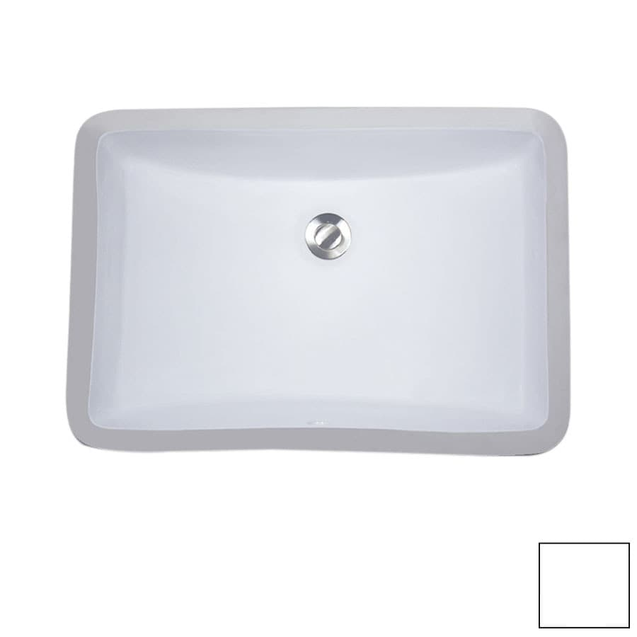 Shop nantucket white undermount rectangular bathroom sink for Bathroom undermount sinks