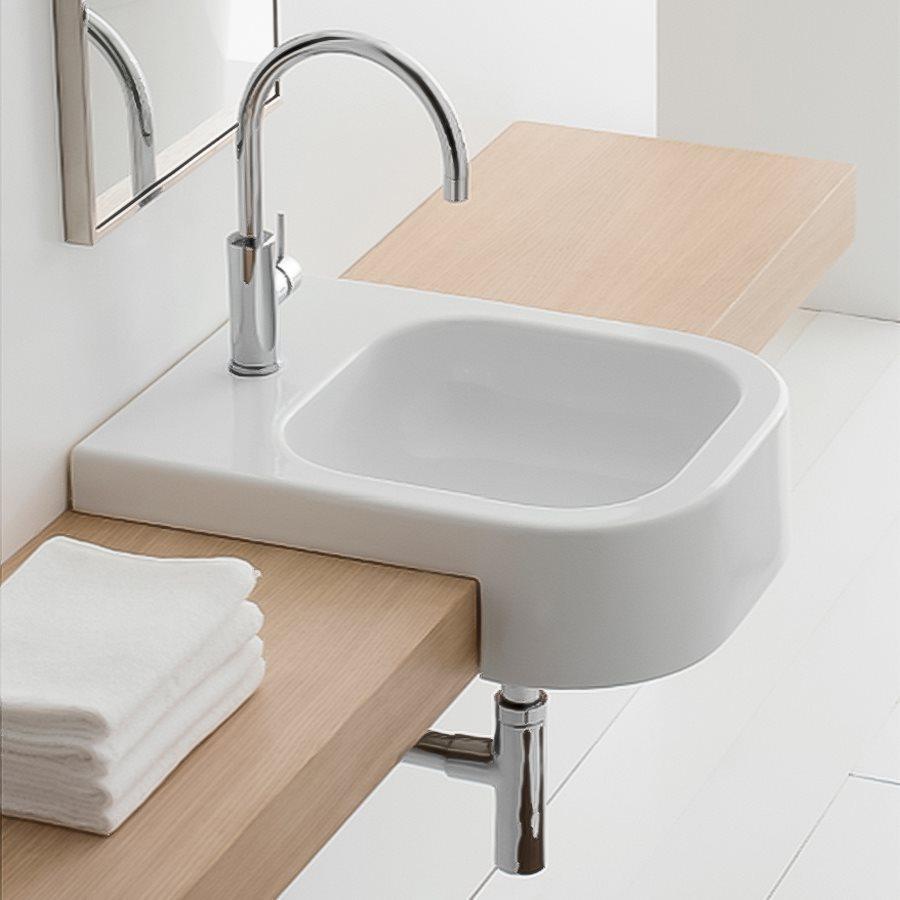 ... Nameeks Scarabeo White Drop-in Rectangular Bathroom Sink at Lowes.com