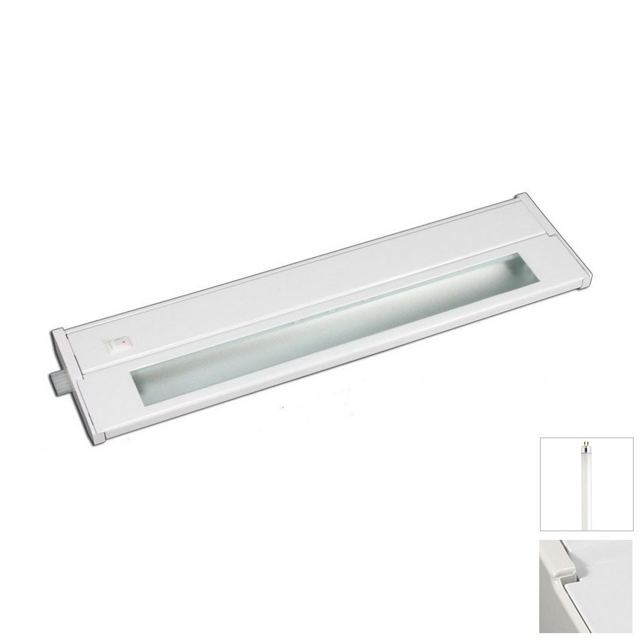 Cascadia Lighting 10-in Hardwired/Plug-in Under Cabinet Fluorescent Light Bar