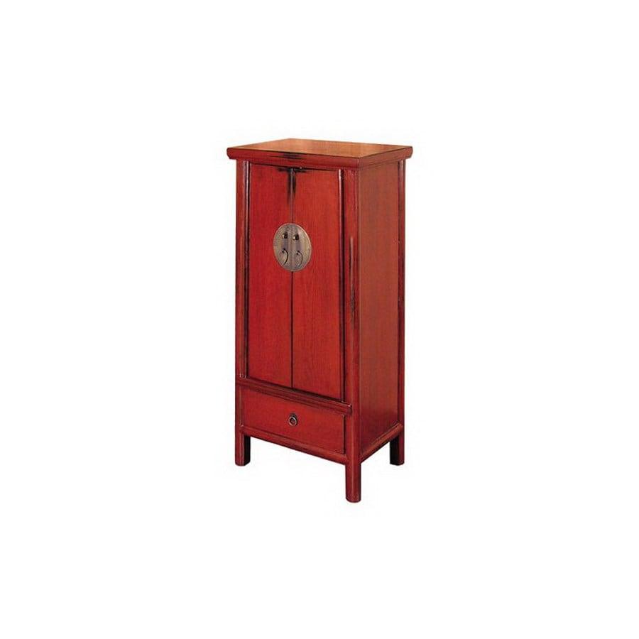 Shop Oriental Furniture Decorative Storage Red Over Black