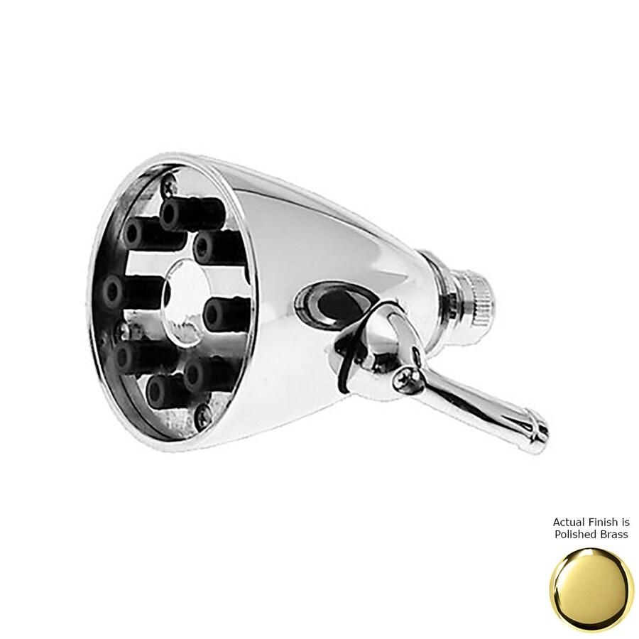 Westbrass 3.5-in 2.2-GPM (8.3-LPM) PVD Polished Brass Showerhead