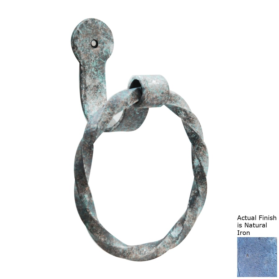 Artesano Iron Works Natural Iron Wall-Mount Towel Ring
