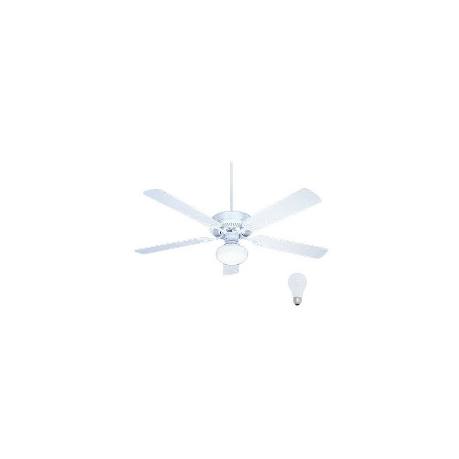 Nicor Lighting 52-in Contractor Pewter Ceiling Fan with Light Kit