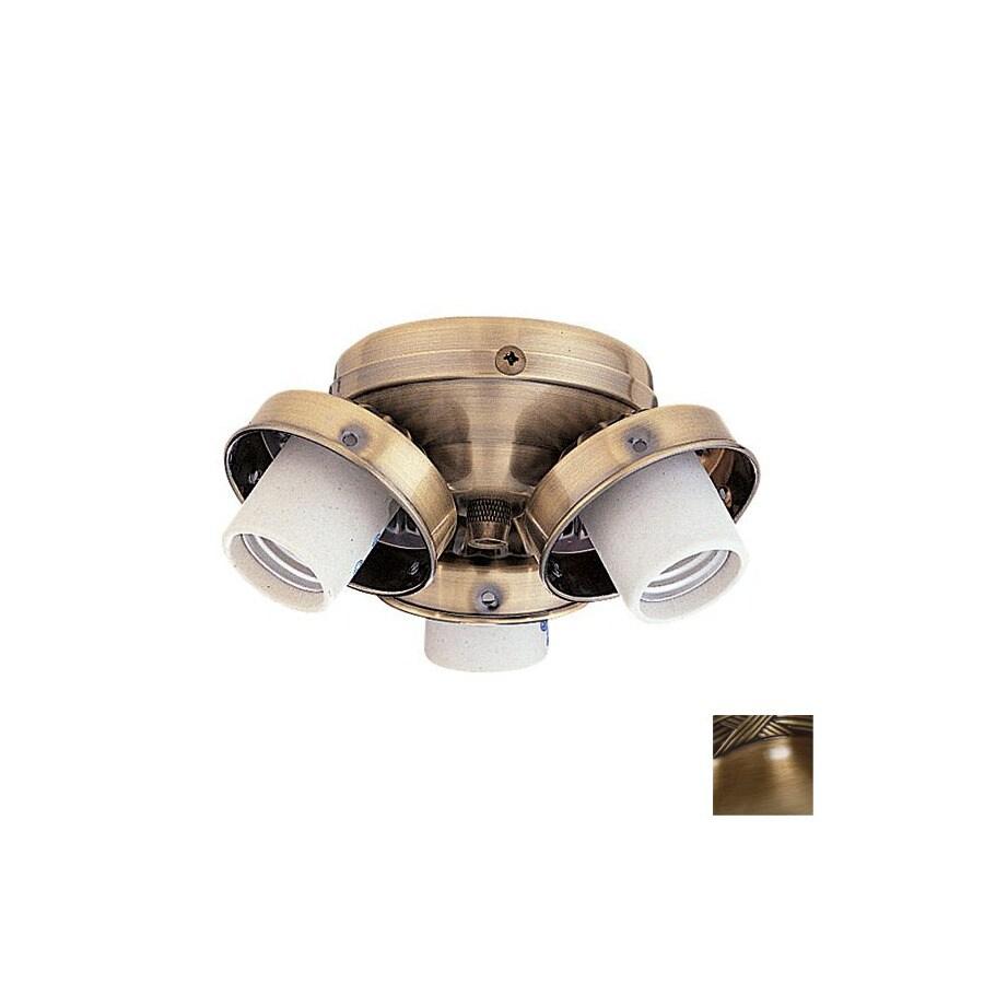 Nicor Lighting 3-Light Antique Brass Ceiling Fan Light Kit
