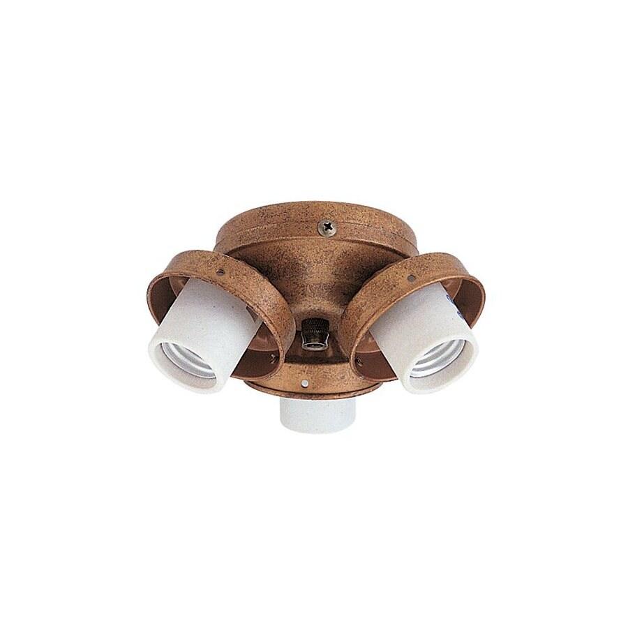 Nicor Lighting 3-Light Antique Gold Ceiling Fan Light Kit