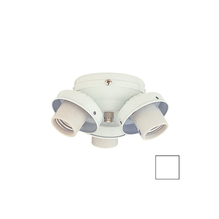 Nicor Lighting 3-Light White Ceiling Fan Light Kit