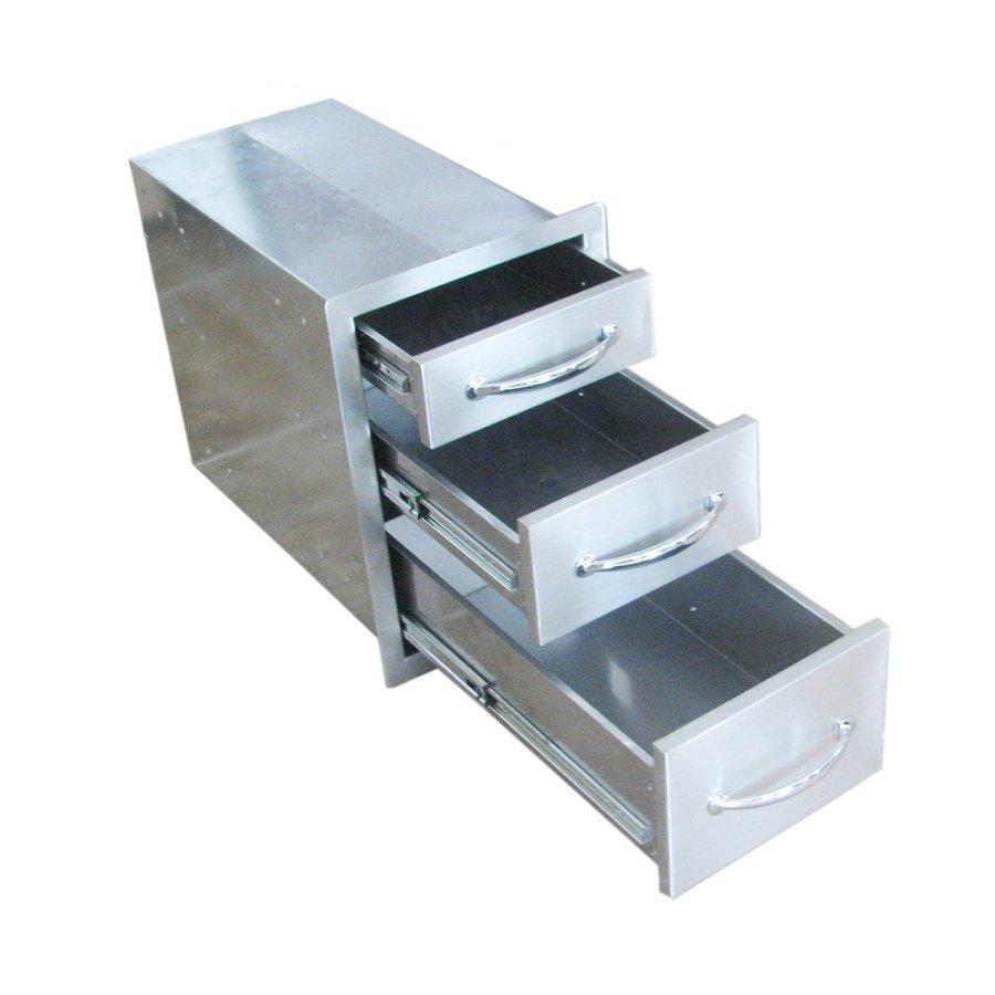 Sunstone Built-In Grill Cabinet Triple Doors