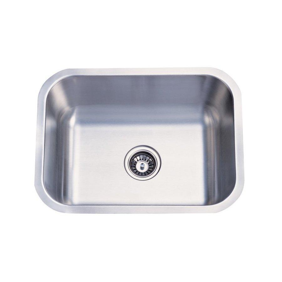 Elements of Design Centurion 17.75-in x 23-in Brushed Nickel Single-Basin Stainless Steel Undermount Kitchen Sink
