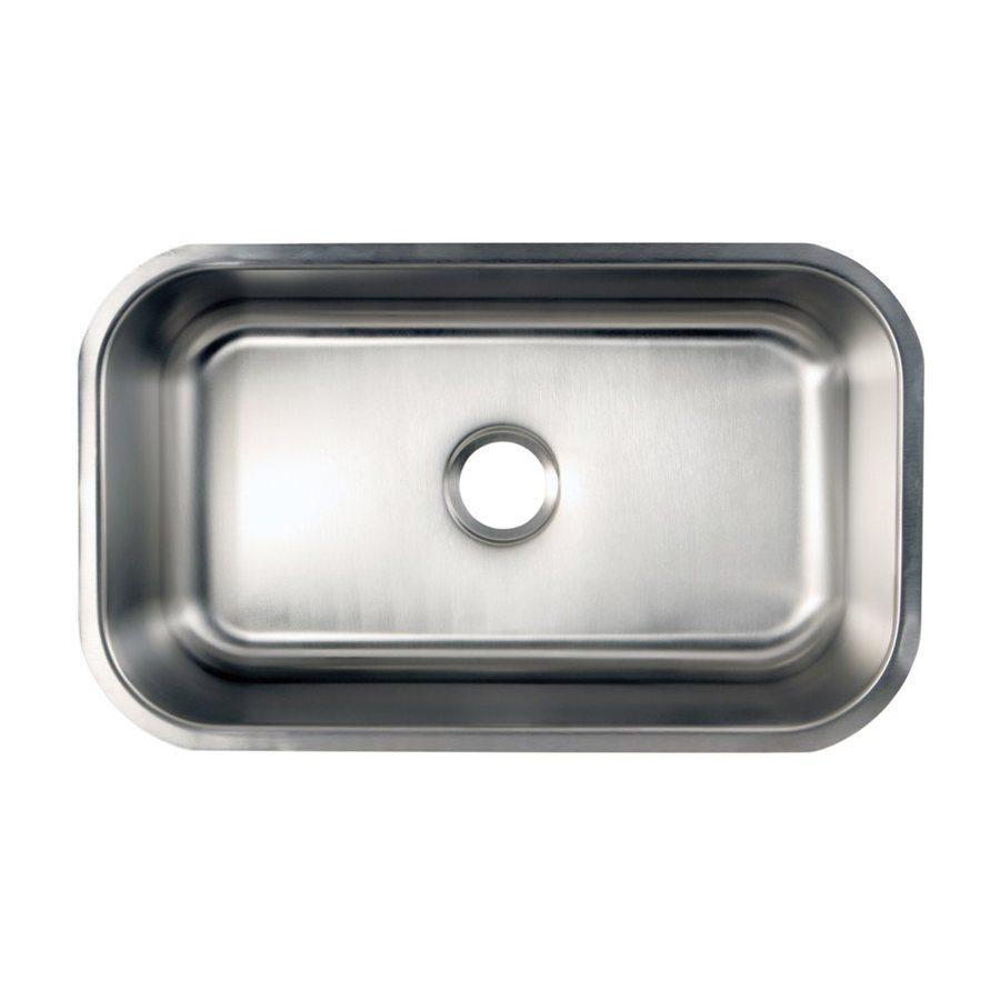 Elements of Design Centurion 17.88-in x 30.13-in Brushed Nickel Single-Basin Stainless Steel Undermount Residential Kitchen Sink