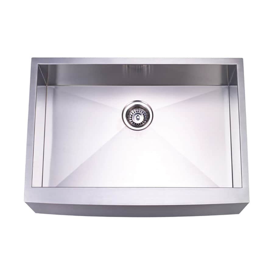 Elements of Design 21-in x 30-in Brushed Nickel Single-Basin Stainless Steel Apron Front/Farmhouse Kitchen Sink