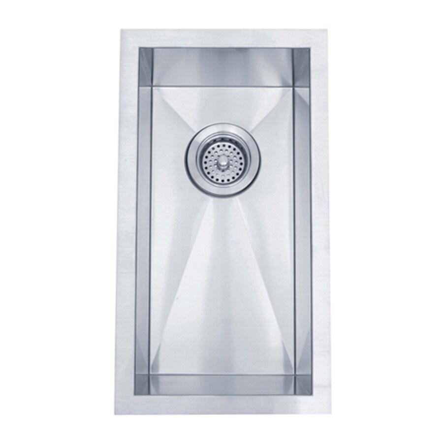 Elements of Design Gourmetier 20-in x 11-in Brushed Nickel Single-Basin Stainless Steel Undermount Kitchen Sink
