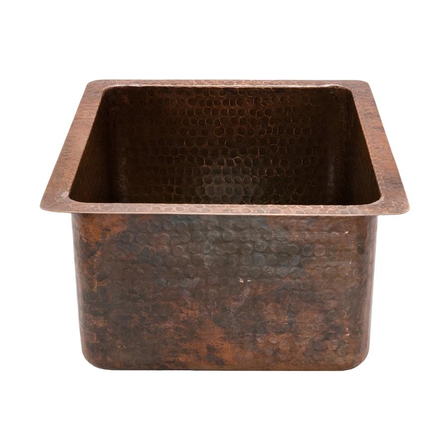 Premier Copper Products Oil-Rubbed Bronze Single Basin Bar Sink