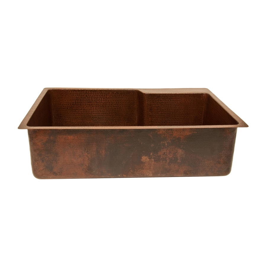 Drop In Copper Kitchen Sinks: Shop Premier Copper Products 22-in X 33-in Oil-Rubbed