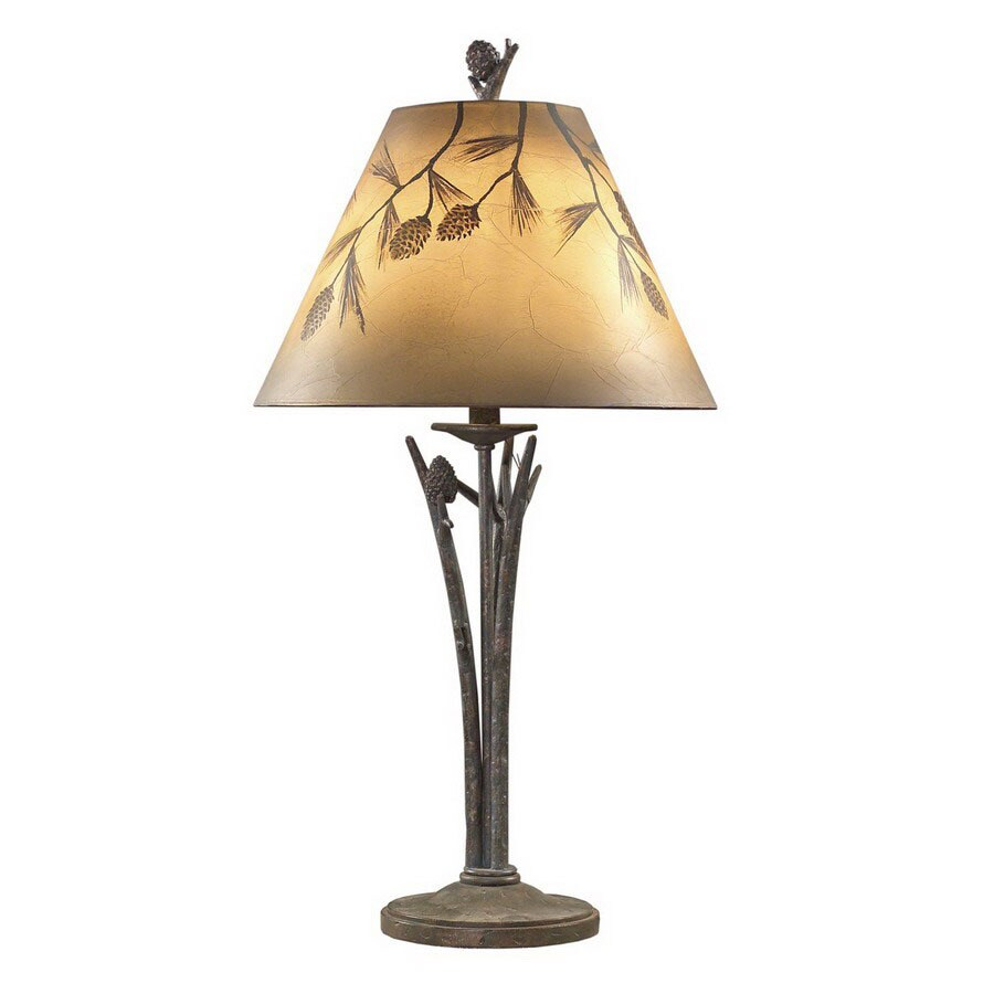Shop shadow mountain 34 in pine branch indoor table lamp for Lowes branch floor lamp