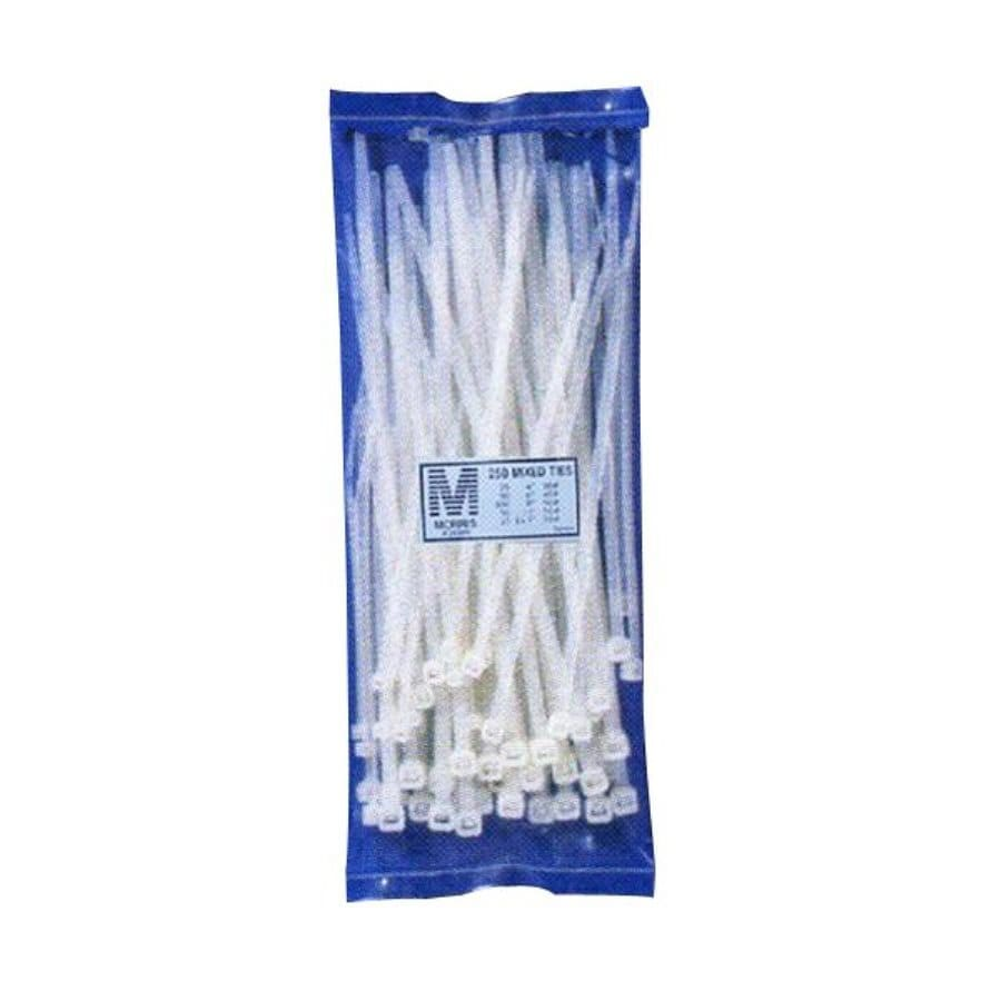 Morris Products 250-Pack Assorted Nylon Cable Ties