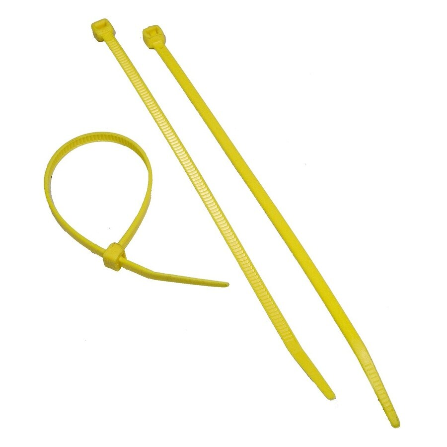Morris Products 100-Pack 8-in Yellow Nylon Cable Ties