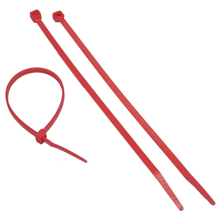 Morris Products 100-Pack 8-in Red Nylon Cable Ties