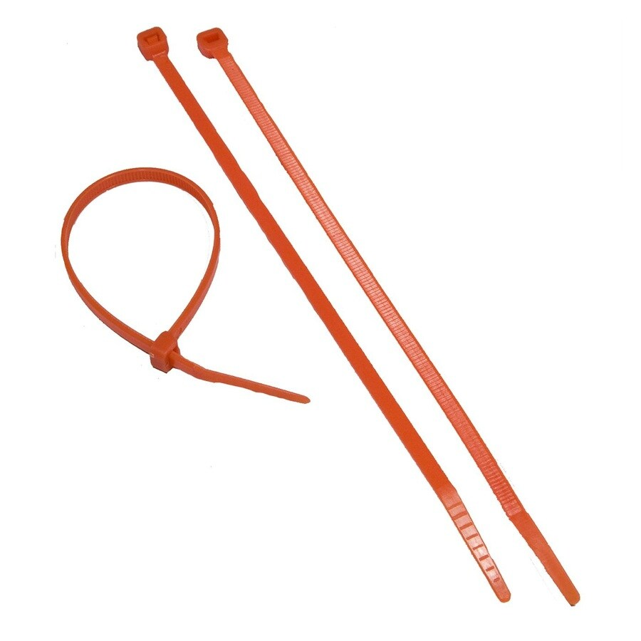 Morris Products 100-Pack 8-in Orange Nylon Cable Ties