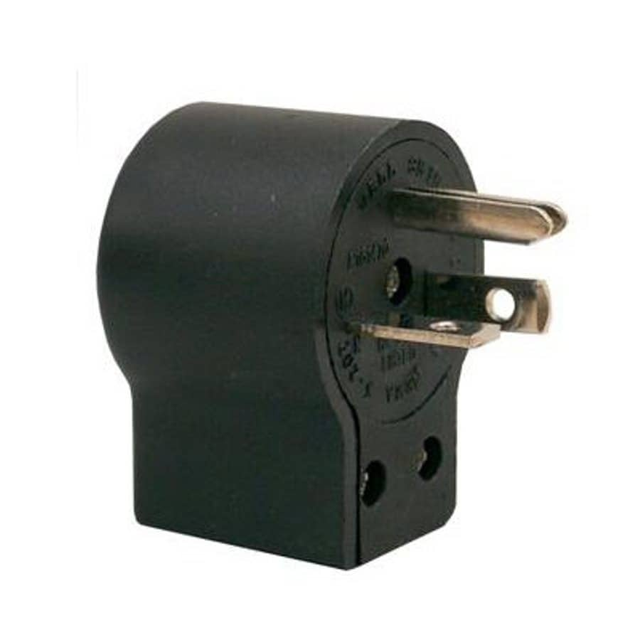 Morris Products 20 Amp 125-Volt Black 3-Wire Grounding Plug