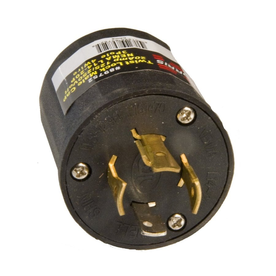 Morris Products 20-Amp 125-250-Volt Black 4-Wire Grounding Plug