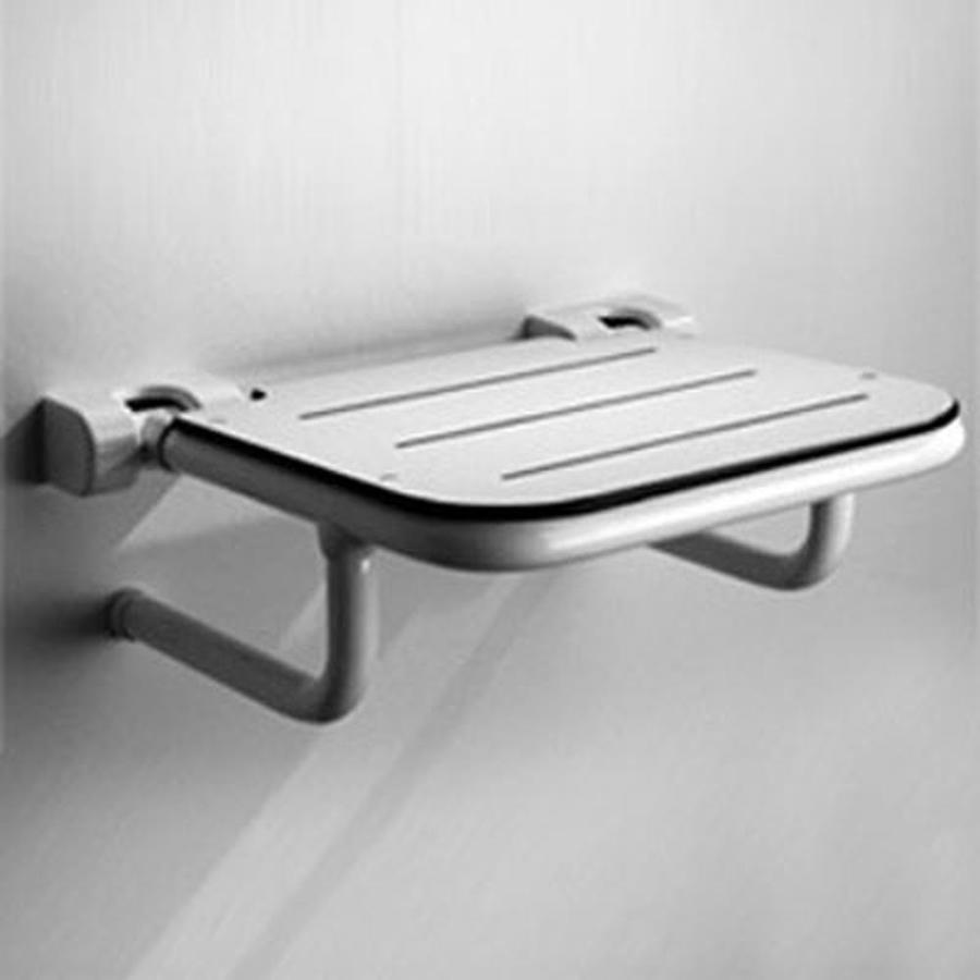 Ponte Giulio USA Glossy White Plastic Wall Mount Shower Seat