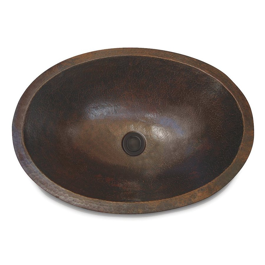 Cole & Company Premier Antique Copper Oval Bathroom Sink (Drain Included)