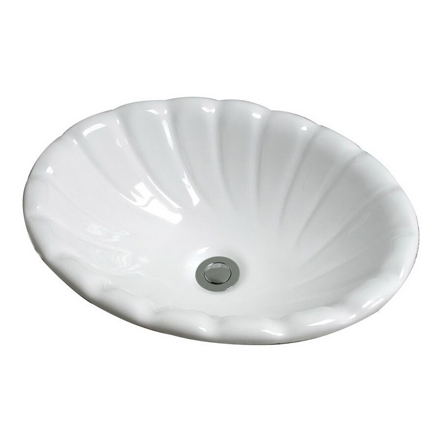 Cole & Company Designer Series Biscuit Drop-In Oval Bathroom Sink with Overflow Drain Included