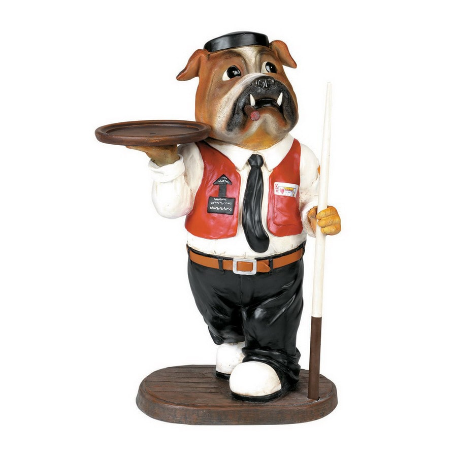 RAM Gameroom Products 13-in x 1.45-ft x 27-in Painted Interior Waiter Statue Accent