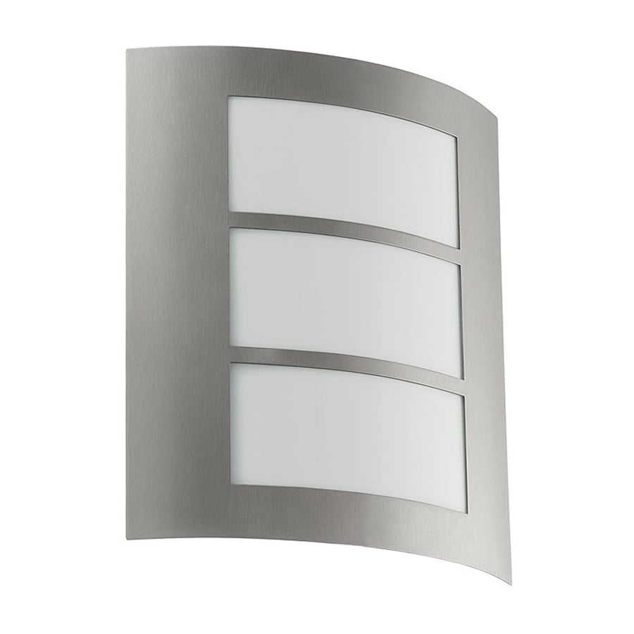 EGLO City 11-in H Anthracite Outdoor Wall Light