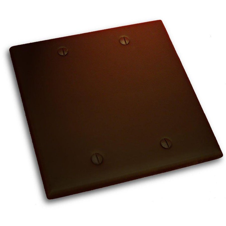 Residential Essentials Venetian Bronze Double Blank Wall Plate