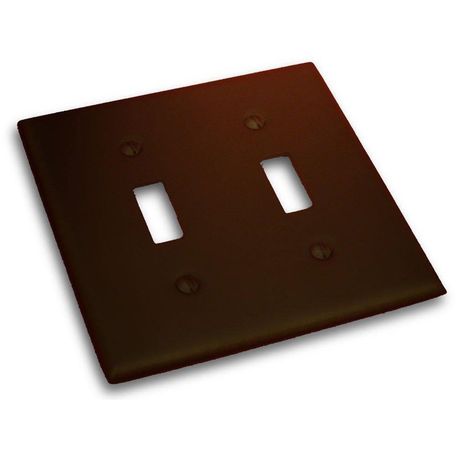 Residential Essentials 2-Gang Venetian Bronze Double Toggle Wall Plate