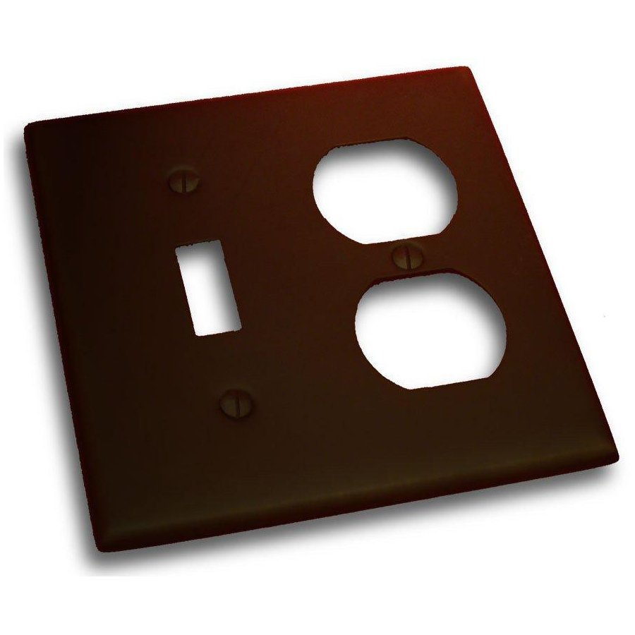 Residential Essentials 2-Gang Venetian Bronze Double Toggle/Duplex Wall Plate