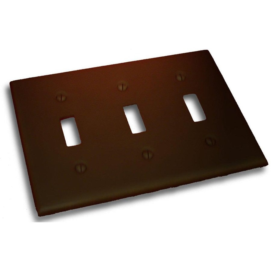 Residential Essentials 3-Gang Venetian Bronze Triple Toggle Wall Plate