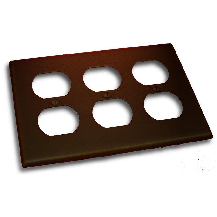 Residential Essentials 3-Gang Venetian Bronze Triple Duplex Wall Plate