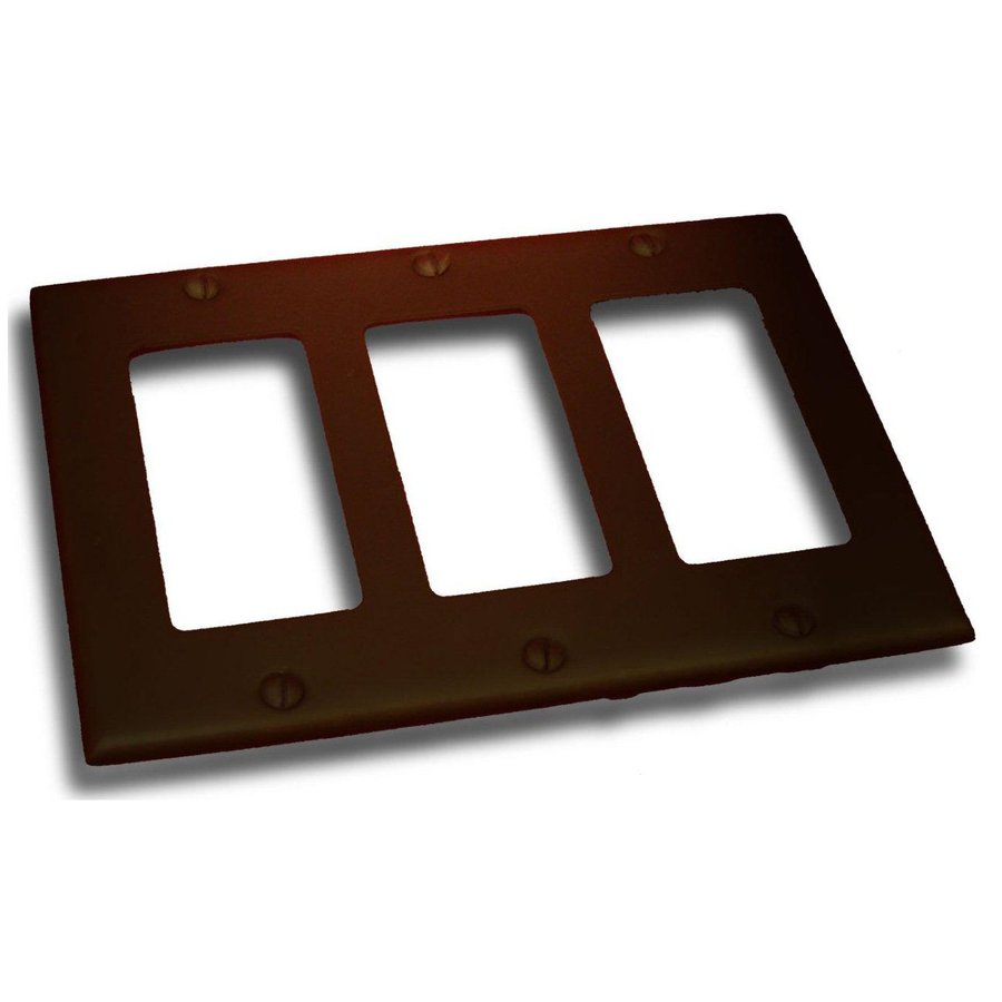 Residential Essentials 3-Gang Venetian Bronze Triple Decorator Wall Plate