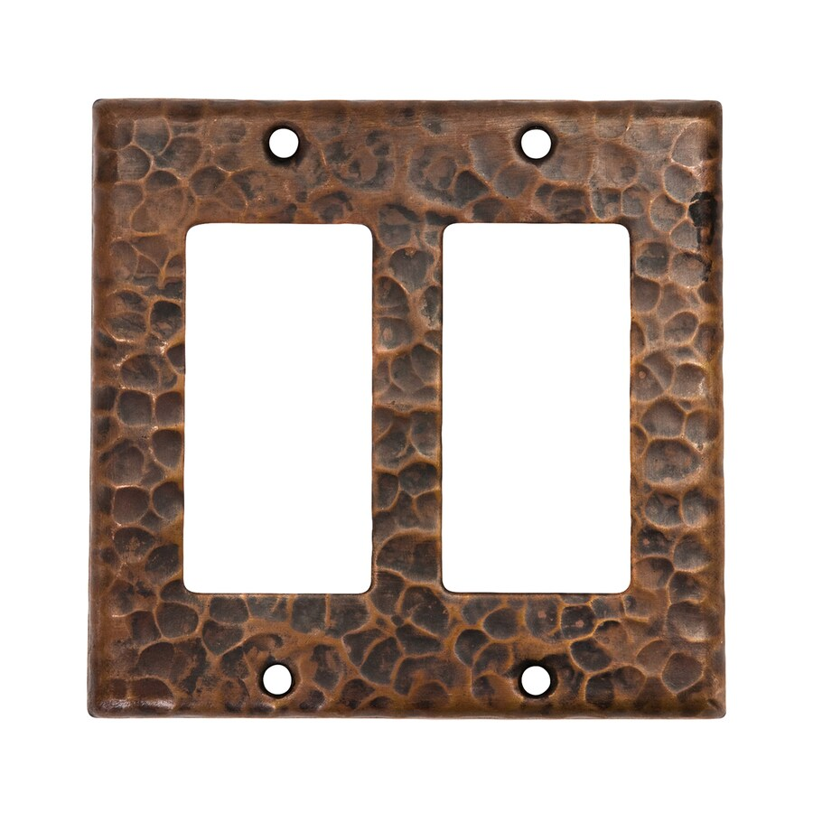 Premier Copper Products 2-Gang Oil-Rubbed Bronze Double Decorator Wall Plate
