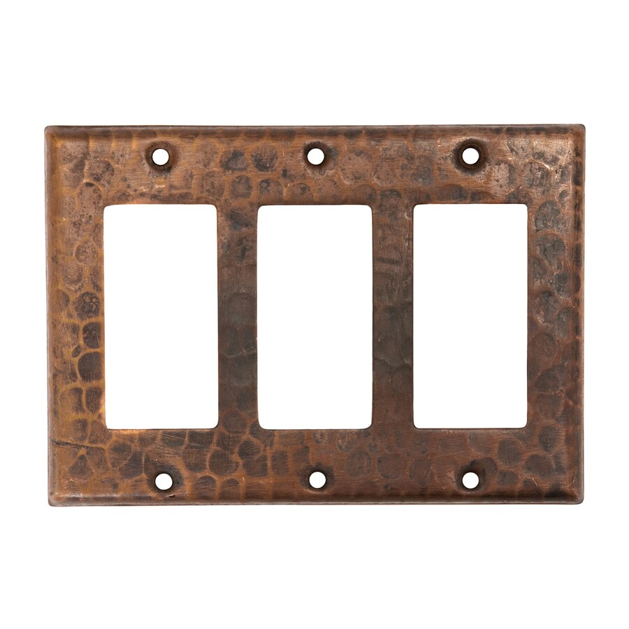 Premier Copper Products 3-Gang Oil-Rubbed Bronze Triple Decorator Wall Plate