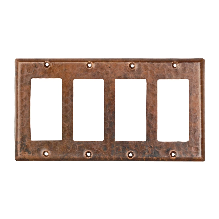Premier Copper Products 4-Gang Oil-Rubbed Bronze Quad Decorator Wall Plate