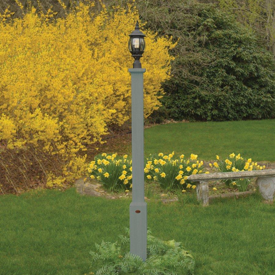 Highwood USA Brockton Coastal Teak 68-in Post Light Pole