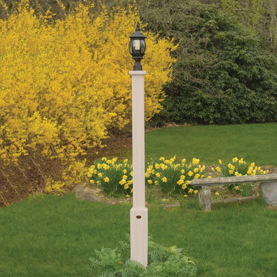 Highwood USA Brockton White 68-in Post Light Pole