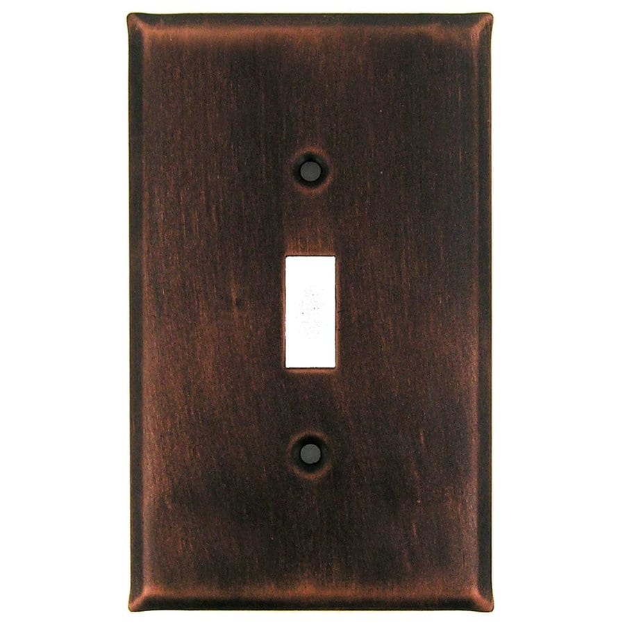 Anne at Home 1-Gang Antique Copper Single Toggle Wall Plate