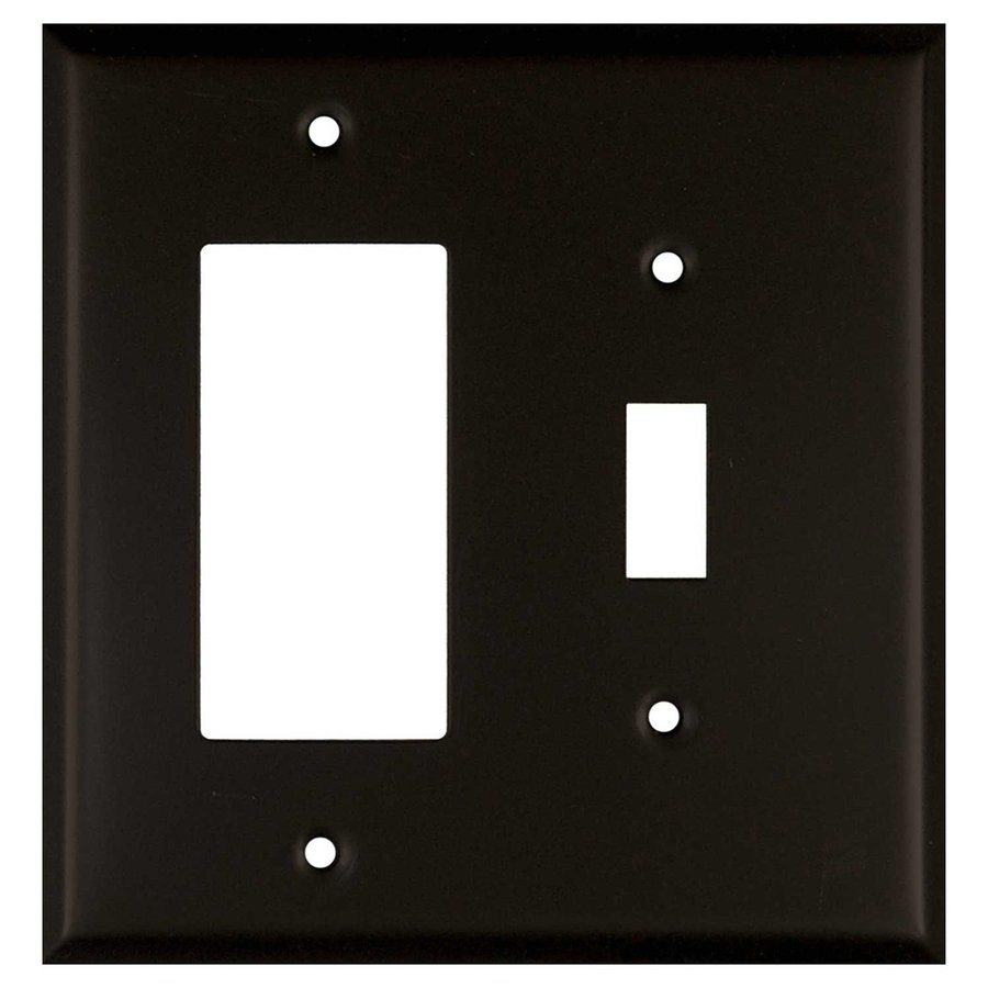 Anne at Home 2-Gang Bronze Double Toggle/Decorator Wall Plate